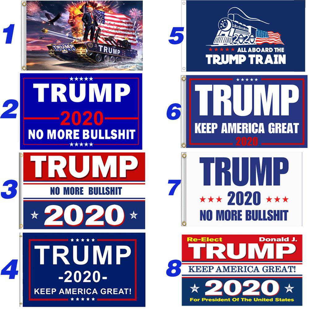 90 * 150CM ترامب 2020 العلم مزدوجة من جانب مطبوعة دونالد ترامب 3 * 5FT العلم إبقاء أمريكا العظمى دونالد لرئيس الولايات المتحدة الأمريكية