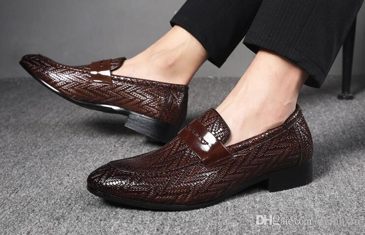 Le nuove scarpe autunno Classic Mans scarpe da uomo Mocassini in pelle di moda Calzature Scarpe formale Casual Scarpe de hombre gomma Large Size