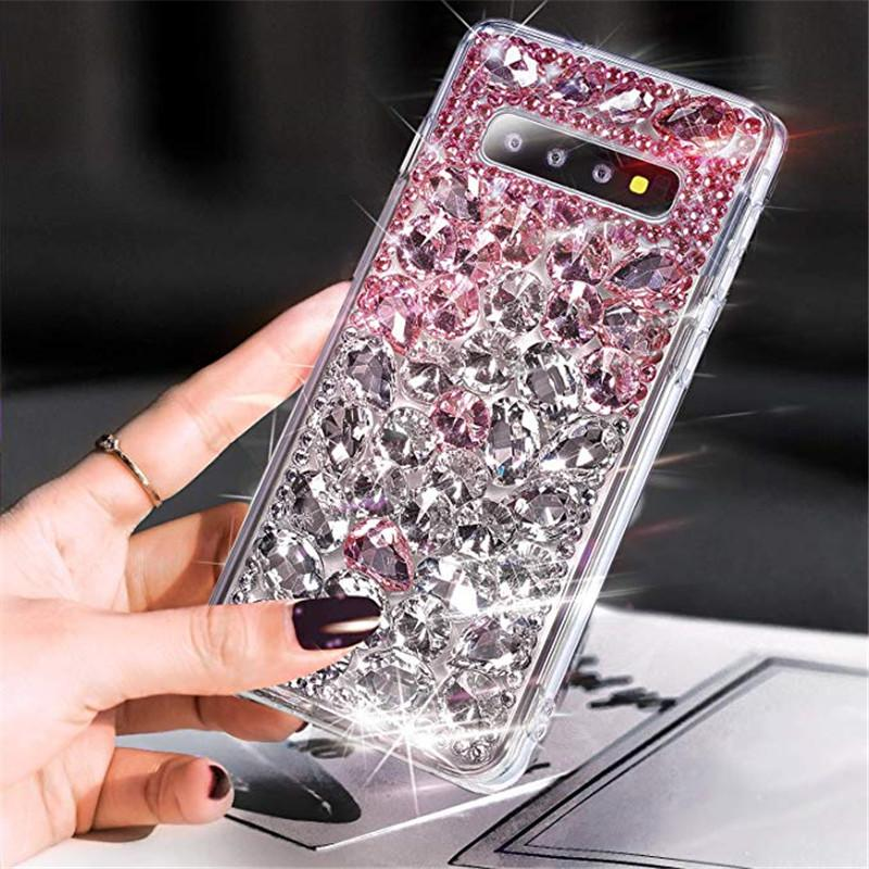 Luxury Fashion DIY Handmade Full Bling Crystal Diamond Case Cover For Samsung Galaxy Note 10 Plus 9 8 S20 Ultra S10E S20 S10 S9 S8 Plus