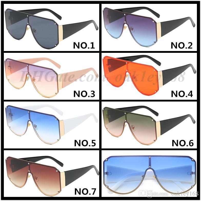 2019 النظارات الشمسية مصمم أزياء الرجال الفاخرة 8807 ساحة متآلف نظارات شمسية للنساء UV400 حماية نظارات حملق