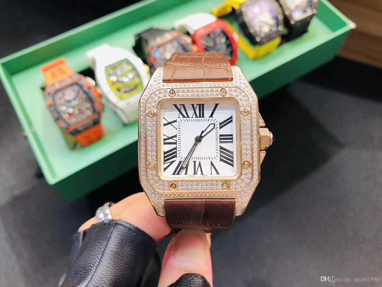 최고 남여 시계 41mm의 스테인레스 스틸 패션 높은 품질의 사각 시계 남녀 2,813 다이빙 기계식 시계 무료 배송 셀프 와인딩
