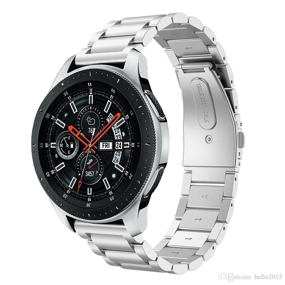 22 мм 20 мм из нержавеющей стали ремешок для часов ремешок для SAMSUNG Galaxy Watch 42 46 мм МЕХАНИЗМ S3 Gear S2 Classic быстрый релиз