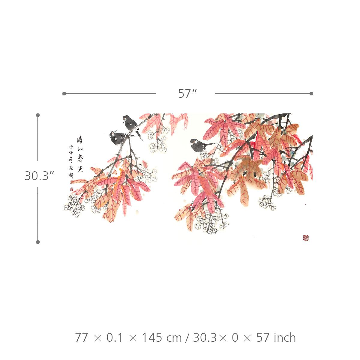 Satın Al Parlak Bahar Dallarında Kuşlar Hem çiçek Ve Kuş Boyama 100 Ilkel El Boyalı Duvar Sanatı Ev Dekor 266734 Dhgatecomda