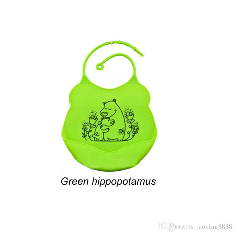 Brand New Lovely Kids Cute Silicone Waterproof Baby Bibs Infants Lunch 4 color