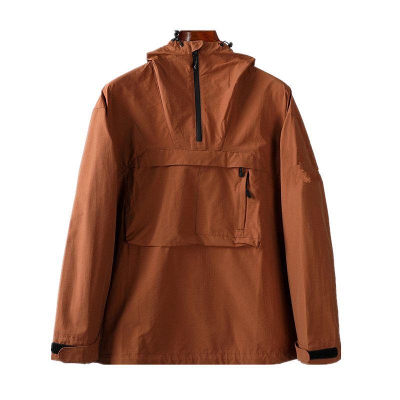 Nouveaux vestes de poche à capuche à capuche Jeunesse Mode Européenne et Américaine Grande Taille Casual Casual Manteau Tissu Mens Gaine Gaine Rainwater Anti Splash
