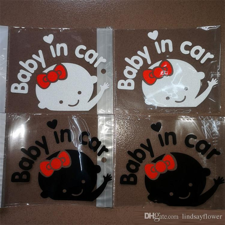 3D Cartoon Car Stickers Baby In Car Warming Auto Sticker Baby on Board High Quality Dewtreetali Reflective Waterproof Paster