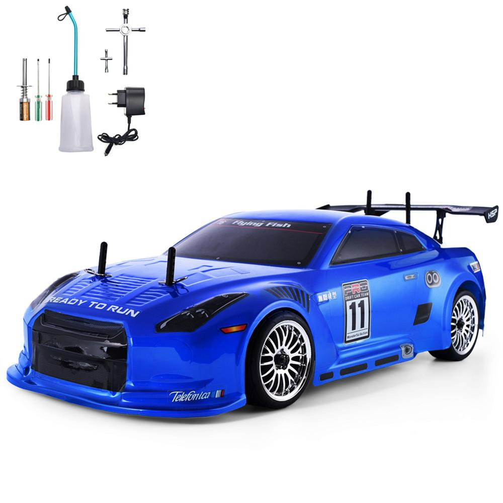 HSP RC Car 4wd 1:10 On Road Racing Two Speed Drift Vehicle Toys 4x4 Nitro Gas Power High Speed Hobby Remote Control Car MX200414