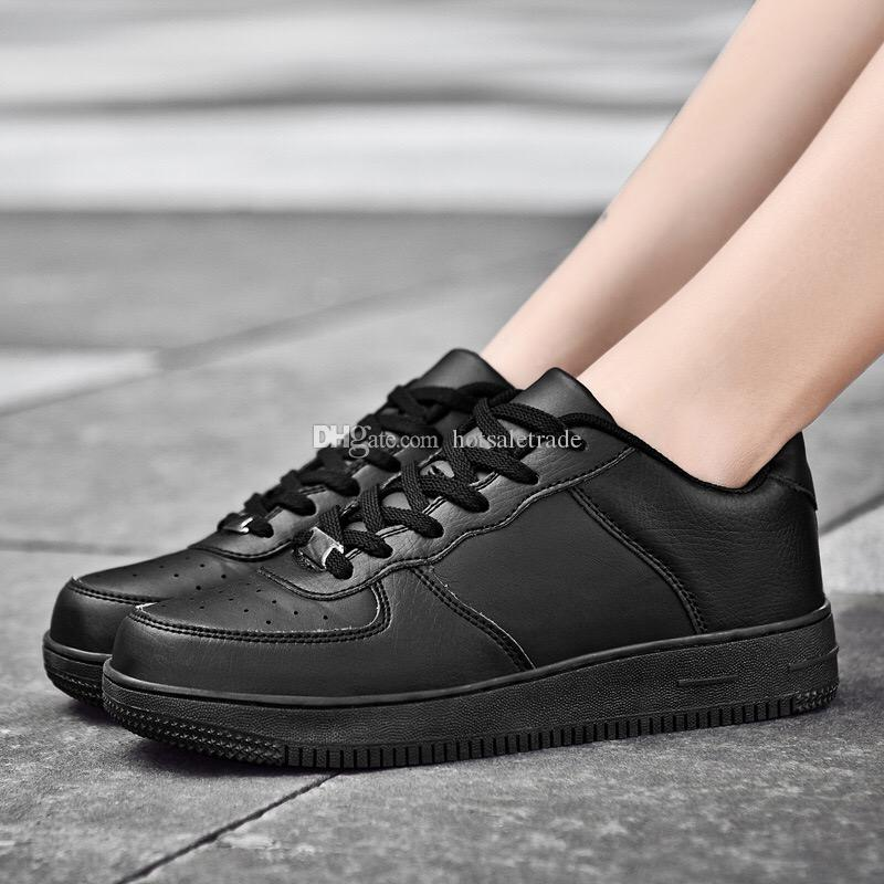 Platform Sneakers Leather Casual Shoe