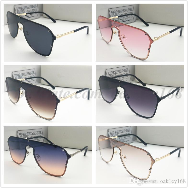 Brand Design 2180 Metal Sunglasses For Women Rimless Frame Connection Lens UV400 Coating Mirrorr Lens Steampunk Summer Style