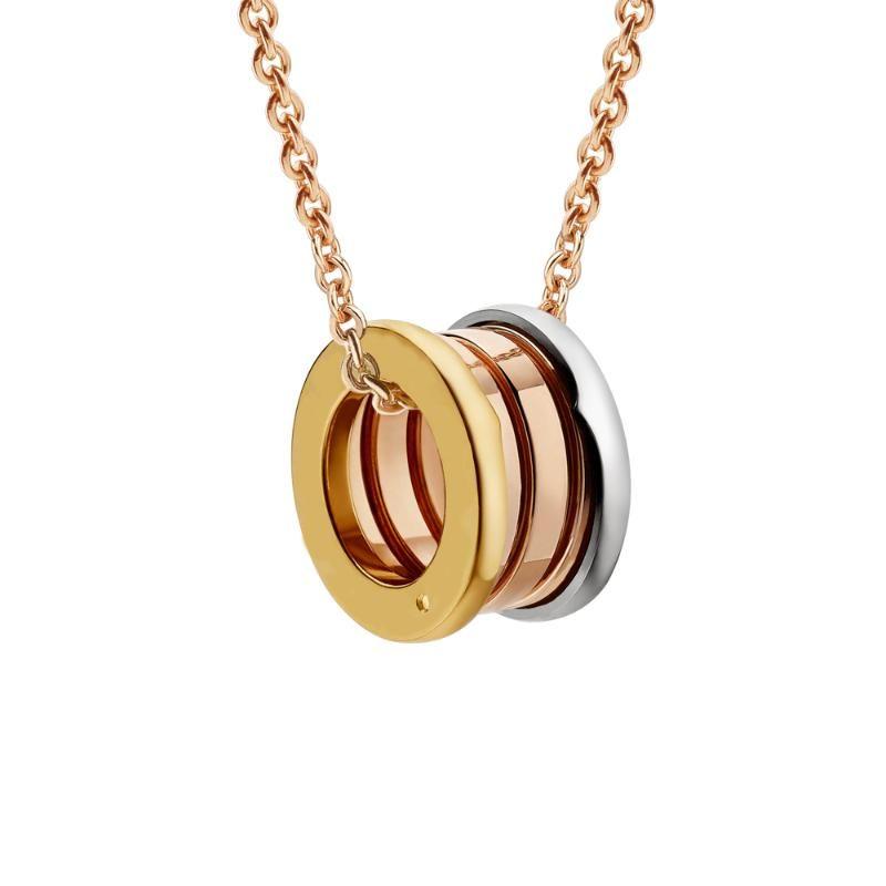 Original Design d'acciaio di titanio multicolore della molla del pendente delle donne degli uomini collana di dichiarazione della collana dei monili Collares Collie acciaio