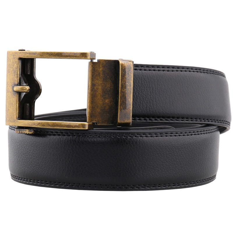 Cintos de Cowskin de luxo Unisex Automático Fivela de Negócios Cintura Genuína Cinta Da Cintura de Couro Mens Fashions Hip Hop Cinto