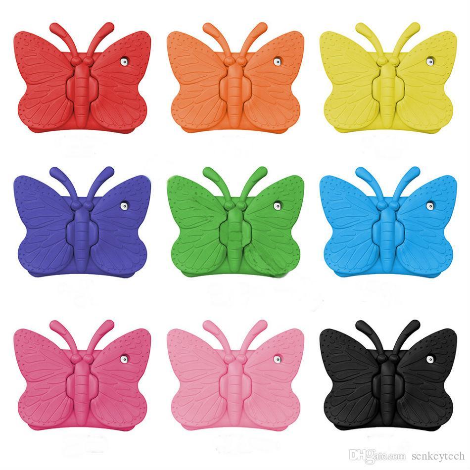 غطاء إيفا فوم ناعم لجهاز iPad mini 1234 New iPad 2017 Butterfly Stand
