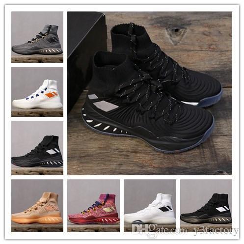 Mens Crazy Explosive chaussures de basket en tricot nouvelle couleur pour noir bleu rouge gris 14s marque sport Sneakers Hommes Designer Chaussures Sports Chaussures