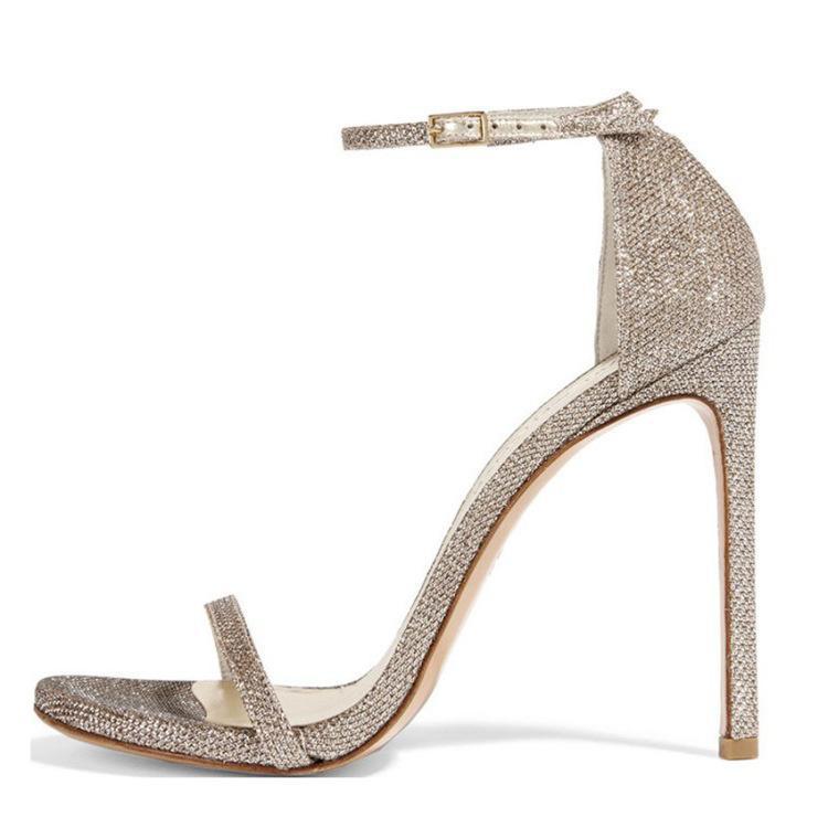 Hot2019 Ince Yüksek Ayak Hasp Ile Rhinestone Sandalet Kod Olacak kadın Düğün Ayakkabı