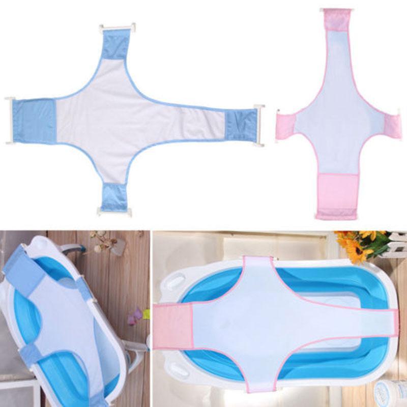 Infante recém-nascido Baby Bath ajustável antiderrapante Net Banheira Sling malha Net Acessórios B99