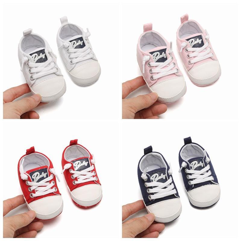 2020 PU Classic Sports Chaussures de sport nouveau-nés garçons Bébés filles Premier Walkers Chaussures pour bébé enfant en bas âge tendre semelle anti-dérapante Chaussures bébé