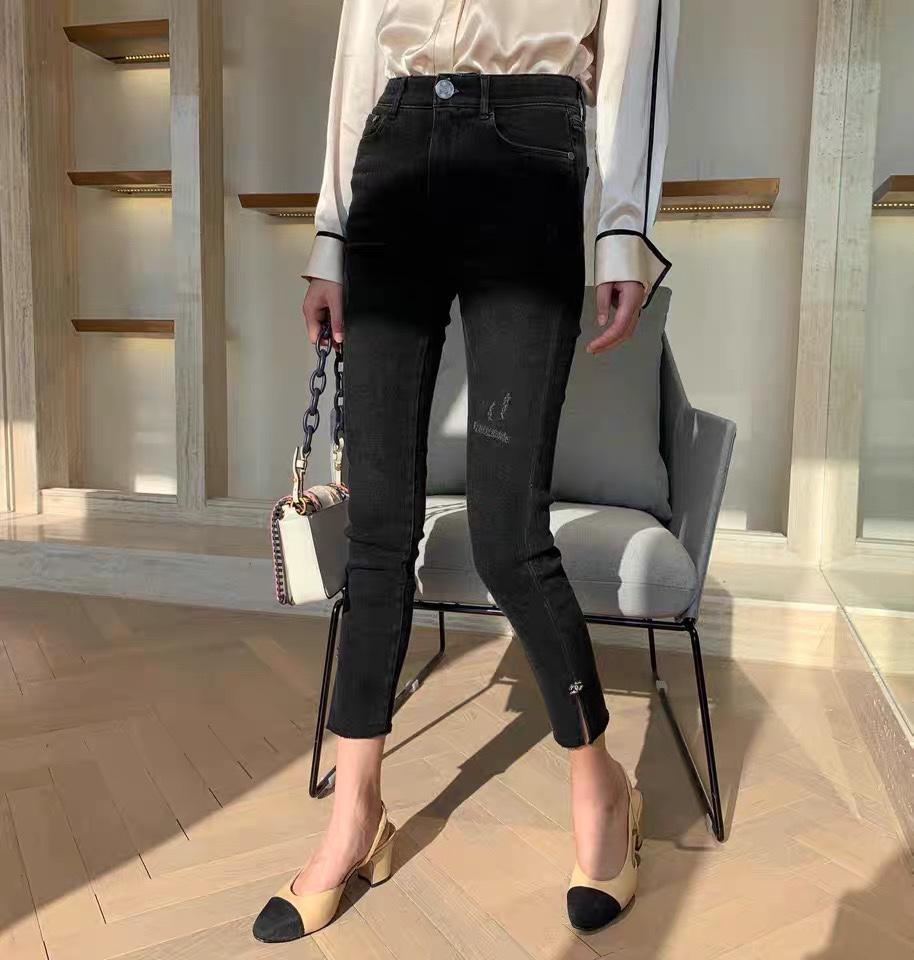 Jeans Milão Runway Jeans 2020 Fashion Designer Lápis Calças Jeans Marca Same luxo Estilo Mulheres de 0419-3