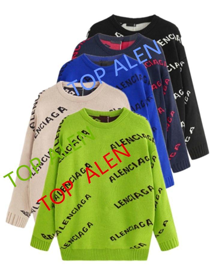국제 하이 엔드 새로운 고품질의 스웨터 패션 알파벳 스웨터 슬림 따뜻한 스포츠 부드러운 스웨터 판매 여성과 남성의