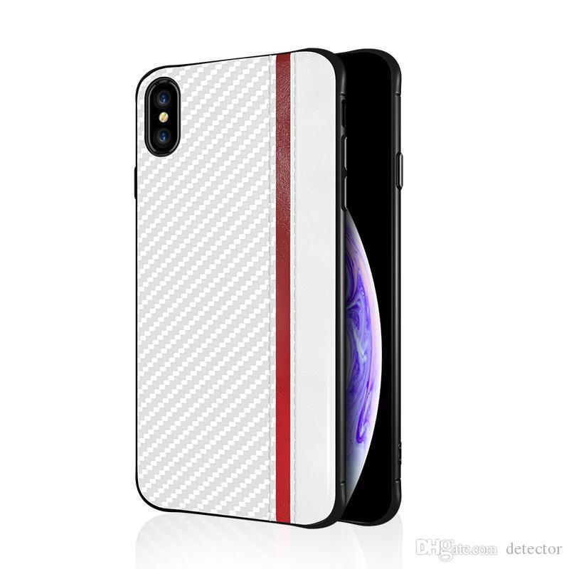 ل XS فون ماكس XR × 8 7 6 الحالة بالإضافة إلى خلية تبو الهاتف حامل مسنده الخفية لايت سامسونج S10 S9 S8 E بالإضافة إلى ملاحظة 8 9 الكربون الألياف غطاء
