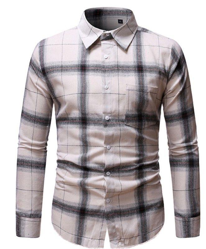 YYear Men Slim Long Sleeve Shirt Casual Lightning-Print Button Down Shirt