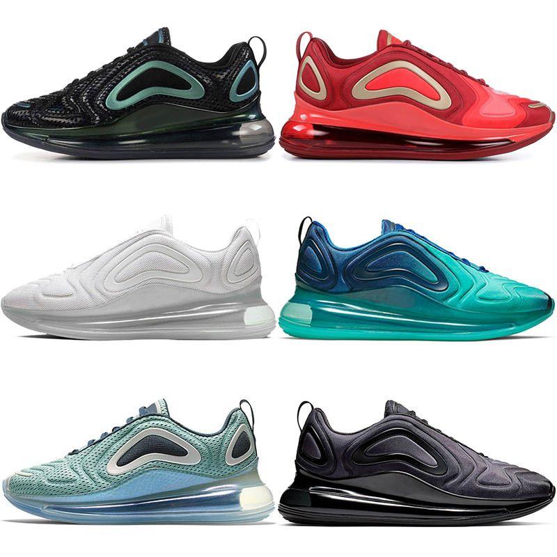 Nike Air Max 720 Hombres KPU para mujer Marca Zapatillas para correr Northern Lights Noche Mar Bosque Puesta del sol Entrenadores Triple negro Sunrise Hombre TPU deportivas