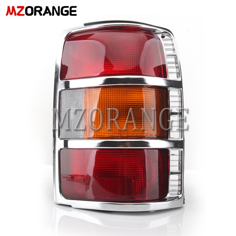 Luz Traseira MZORANGE Car Styling Chrome com lâmpadas Assembléia lâmpada traseira MB831489 Para Mitsubishi Pajero / Montero 1991-1999