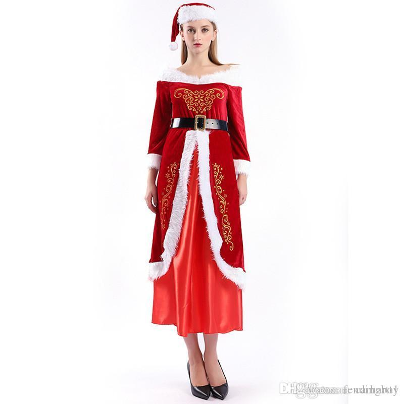 Merry Christmas Designer Cosplay Clothes Mens Womens Fashion Santa Claus Theme Costume Cosplay Couple Matching Clothes
