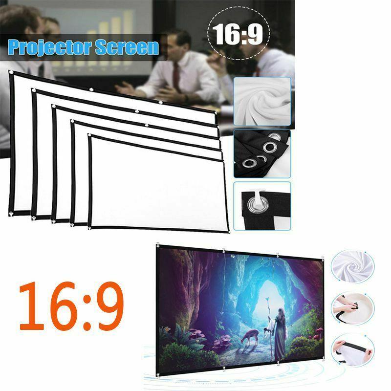 """Tragbares 60"""" - 150"""" die Projektor-LED Projection Screen 16: 9 3D-HD Heimkino Filme im Freien Theater faltbare Weiß für Wand befestigten"""