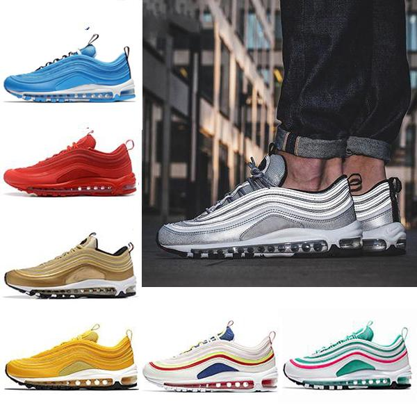 New Men Running Shoes 97S UNDEFEATED OG UNDFTD Cushion KPU Triple White Black 97s Beach Training Fashion Wholesale Outdoor Sneakers US 7-12