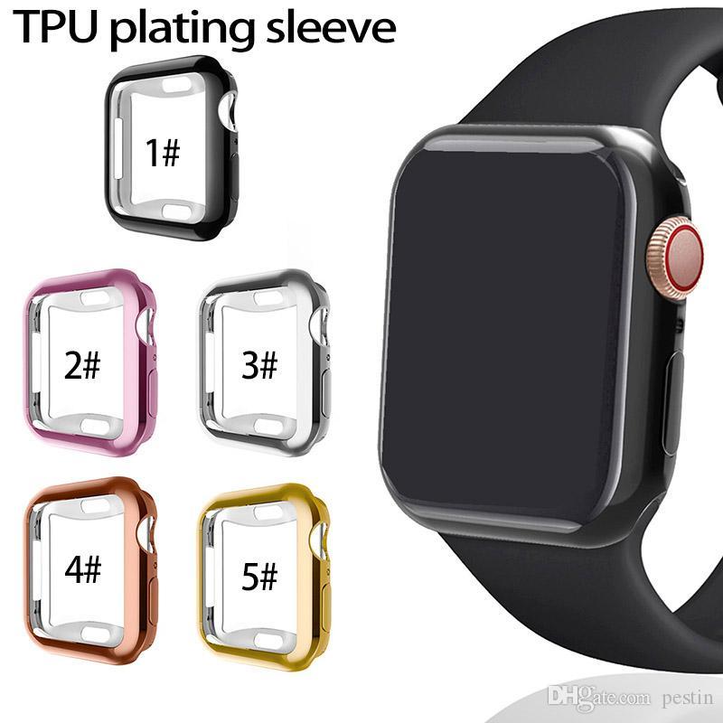 애플 시계 iWatch 커버 전기 도금을 360 ° 낙하 방지 쉘 넷 세대 시계 TPU를 들어 iwatch 4 보호 커버 도금