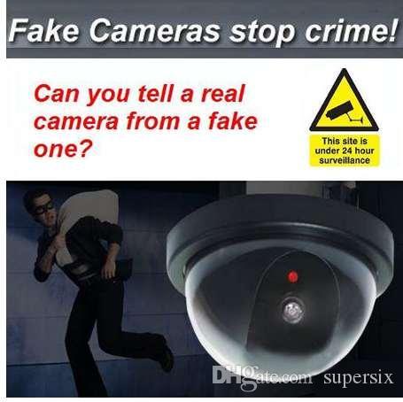 돔 더미 보안 CCTV 카메라 플래시 깜박이는 빨간색 LED 가짜 카메라 보안 시뮬레이션 된 비디오 감시 저지 강도!