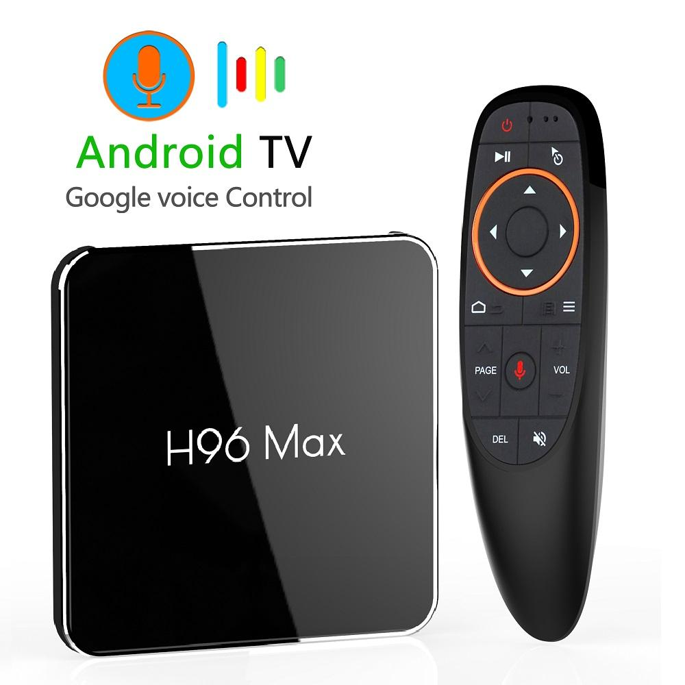 Android 9.0 4GB 64GB Amlogic S905X2 Smart TV Box Dual Wifi 1080p 4K USB3. 0 H96 MAX X2 Google Voice Control