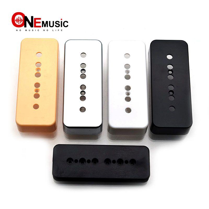 20PCS soapbar Gitar Pikap Kapak 50mm ve 52mm Pole Aralıkları LP P90 Stil Gitar Siyah / Beyaz / Sarı / Gümüş Mevcut için