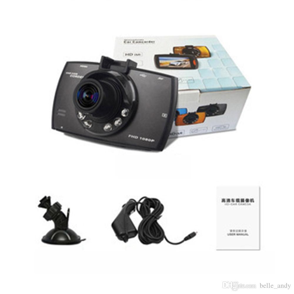 2.4 بوصة DVR G30 HD 1080P كاملة لتعليم قيادة السيارات كاميرا فيديو ومسجلات Dashcam مع تسجيل حلقة الحركة للرؤية الليلية G الاستشعار