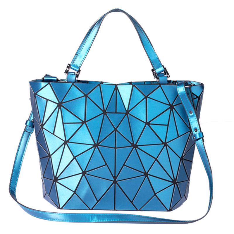 Sac de femmes poignée supérieure de l'épaule géométrique Sac à main pliable grande capacité changeable Cross Body Bag