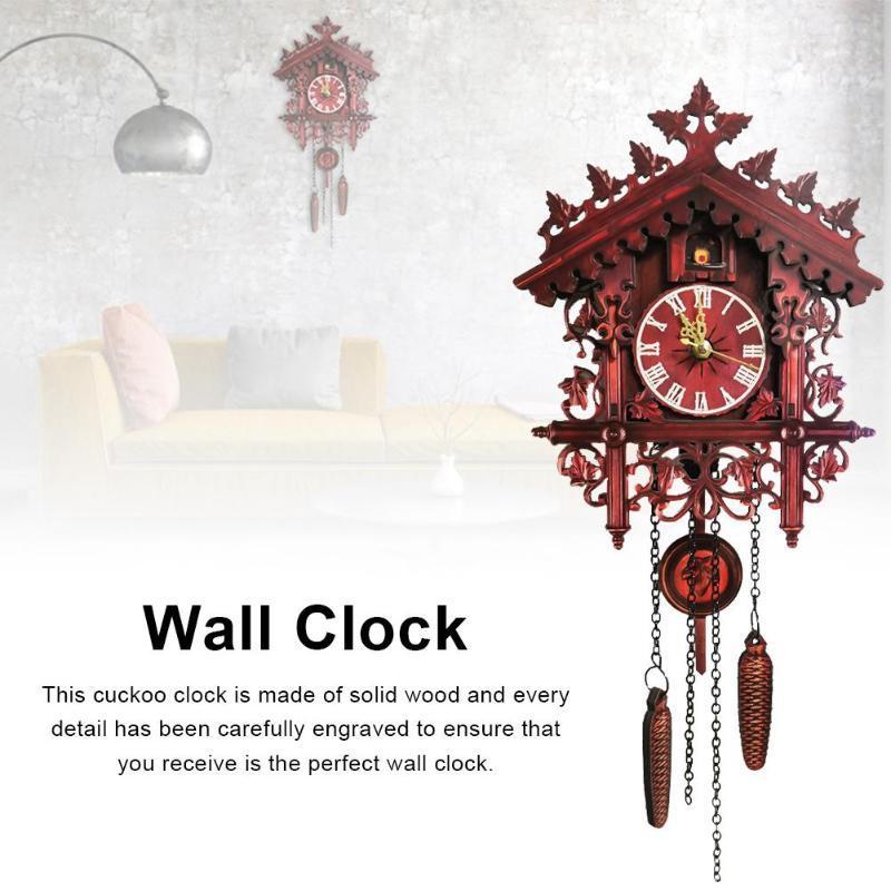Muro di orologi a cucù della Foresta Nera a cucù in legno Orologio dalla Foresta Nera Mano-Intagliata Clock House Home Decor
