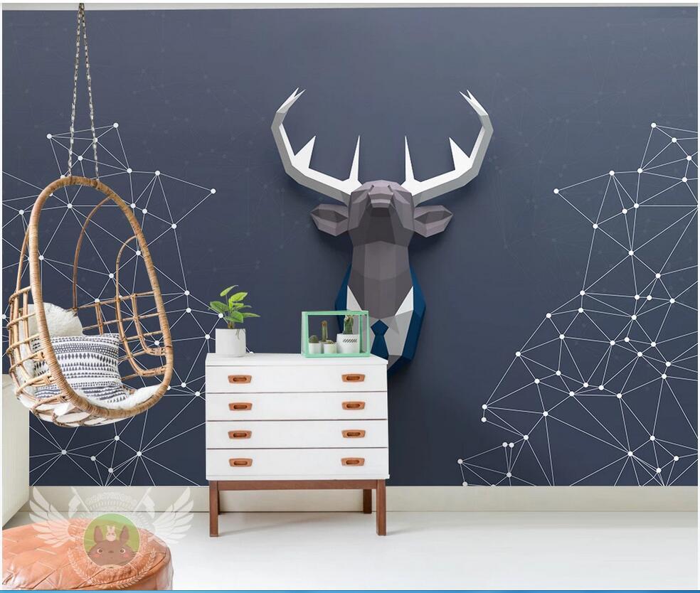 WDBH 3d Wallpaper Custom Photo Nordic Geometric Abstract