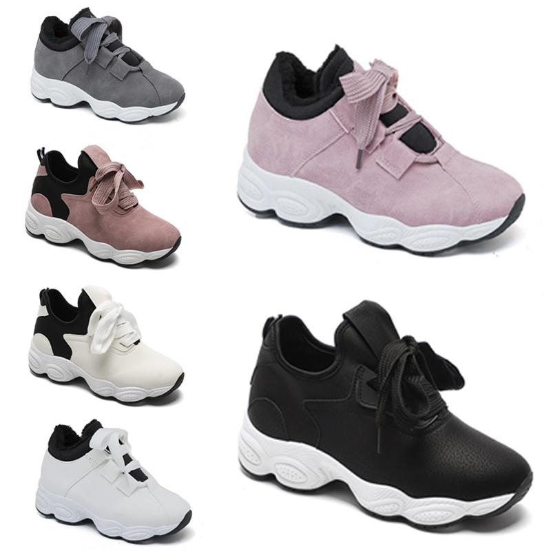 hotsale Olmayan Marka ücretsiz kargo Chaussures kadınlar Beyaz Siyah Pembe Gri Süet moda Spor Sneakers 36-40 madde koşu ayakkabıları # 296