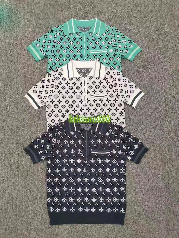 haut de gamme femmes filles tricot t-shirt tOUs monogramme lettre motif blouse à manches courtes chemise t 2020 Stylisme dessus pull-over de luxe