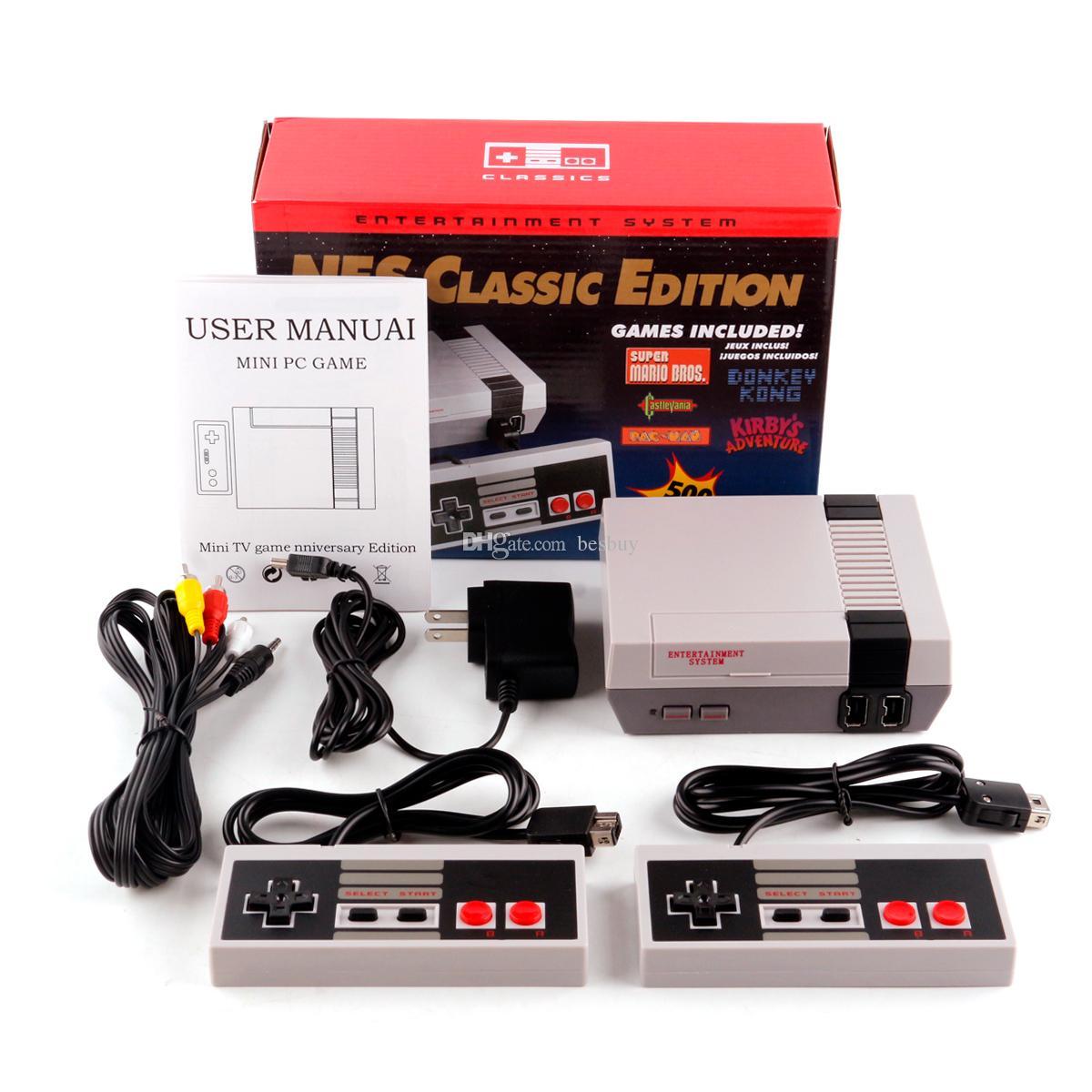 WII clásico HDMI TV del juego de video de mano consola de entretenimiento Juegos Sistema para 500 Edición Modelo Mini HD NES Consolas