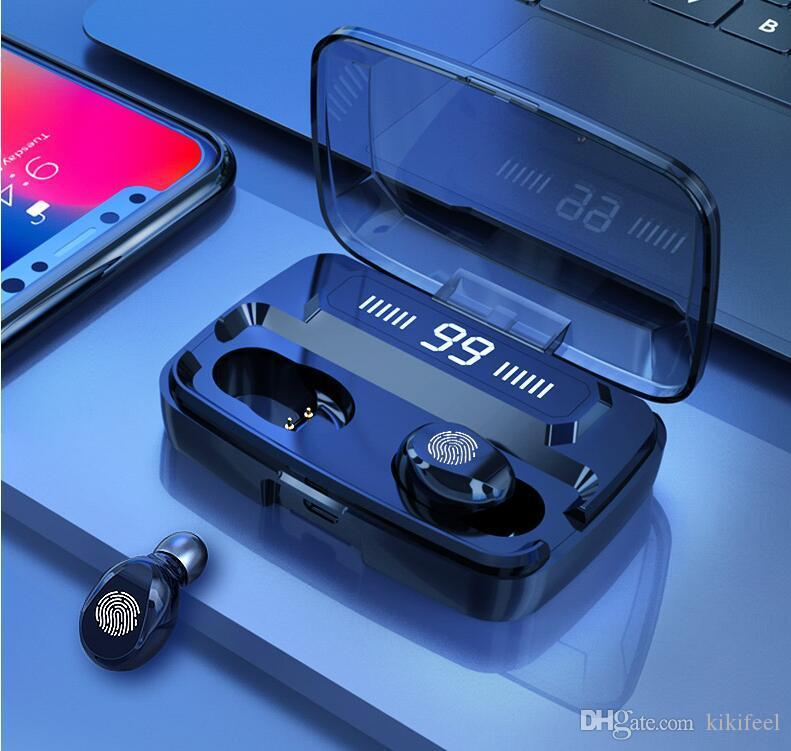 ORIGINAL M11-9 fones de ouvido sem fio TWS Bluetooths 5.0 fones de ouvido HiFi IPX7 Earbuds à prova d'água Toque controles fone de ouvido para esportes