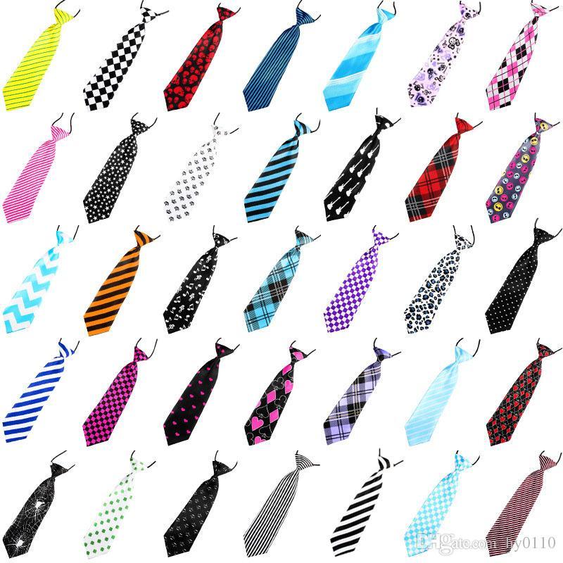 키즈 넥 넥타이 조정 가능한 탄성 넥타이 베이비 액세서리 인쇄 넥타이 캐주얼 넥 넥타이