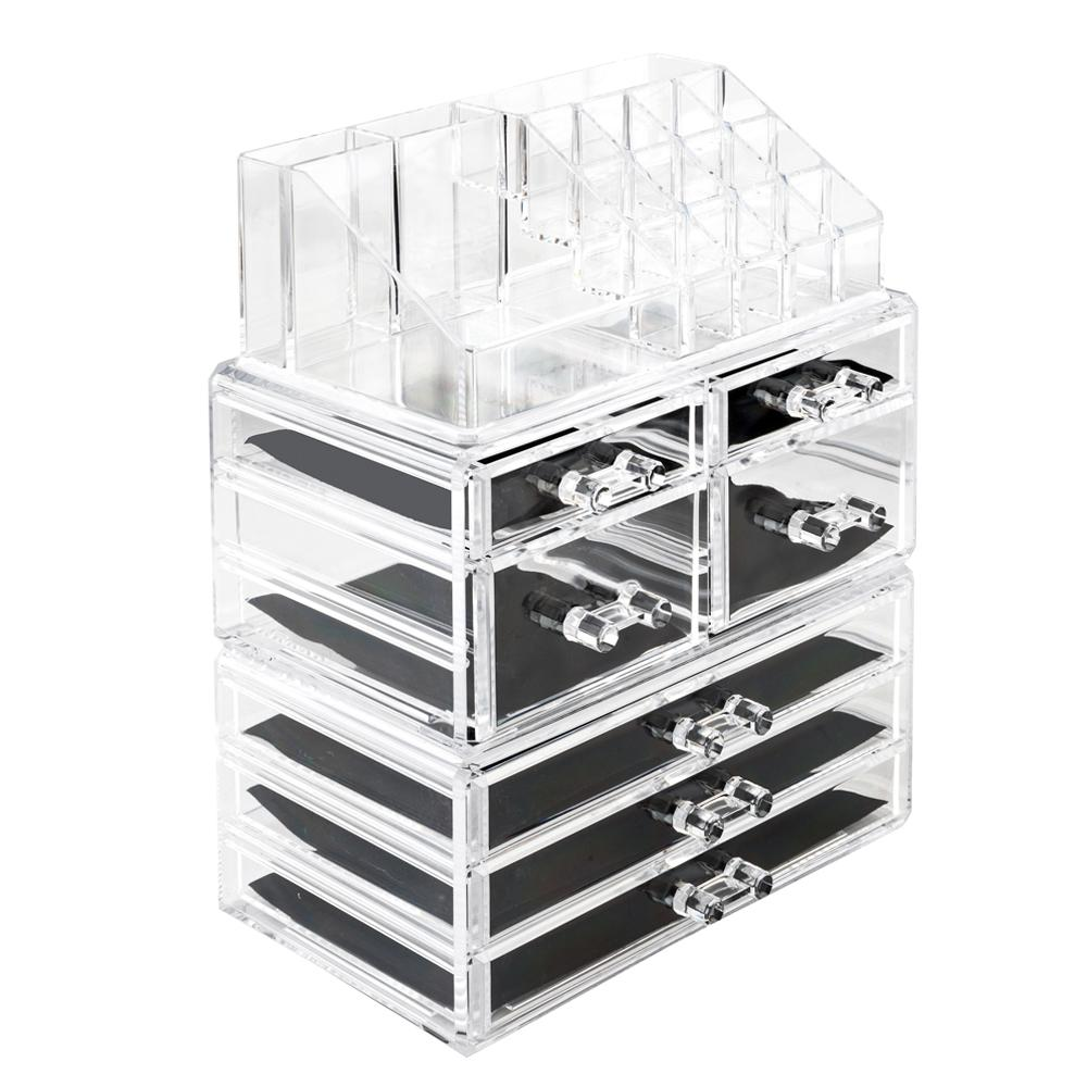 2020 Us Stock Acrylic Jewelry Box 7 Drawers Transparent Jewellery Organizer Bracelet Earring Necklace Lipstick Display Case Gift For Women Girls From Jieminglang 71 46 Dhgate Com