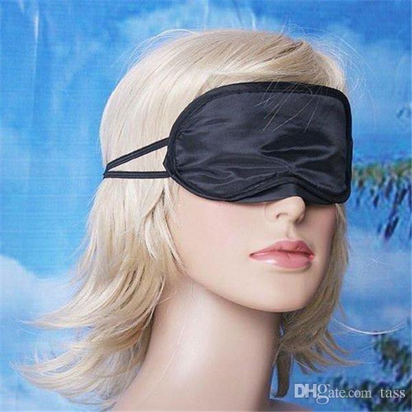2500pcs / lot de la cortina Máscaras visera del sueño del recorrido del resto del ojo de alta calidad cubierta de la siesta con los ojos vendados de la piel Cuidado de la Salud Tratamiento envío Negro libre del sueño