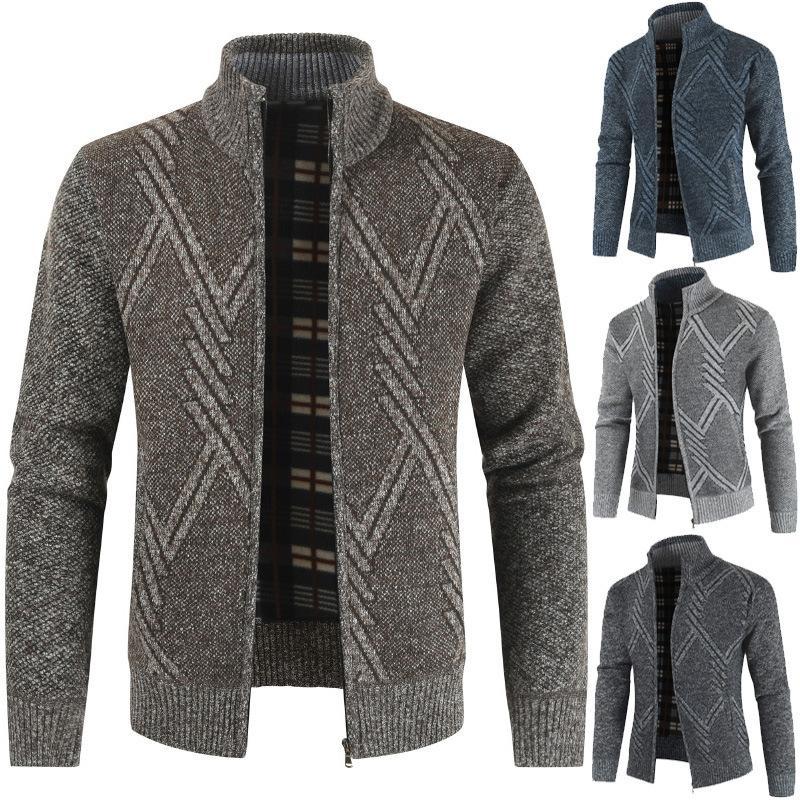 Ropa Caliente Slavna Martinovic hombres de Nuevo casual Cardigan suéter de manga larga tapa de la manera Abrigo de otoño hombres del invierno
