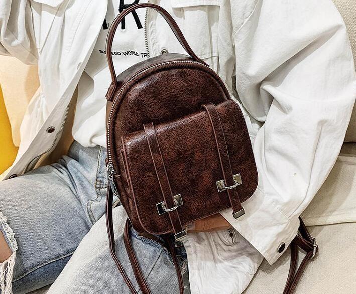 Livraison gratuite Nouveau Sac de style vintage sac à dos sacs à bandoulière en cuir style femmes Mini Messenger Sacs