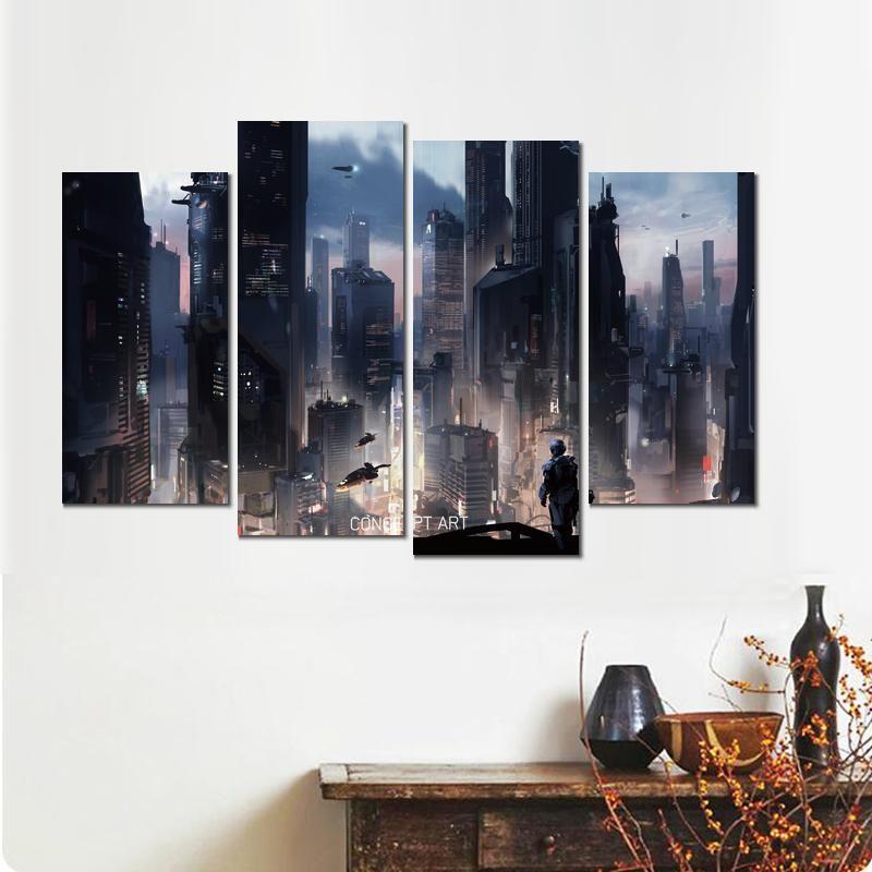 Classique 4 ensembles halo gardiens concept art poster affiche sur toile pour la décoration maison
