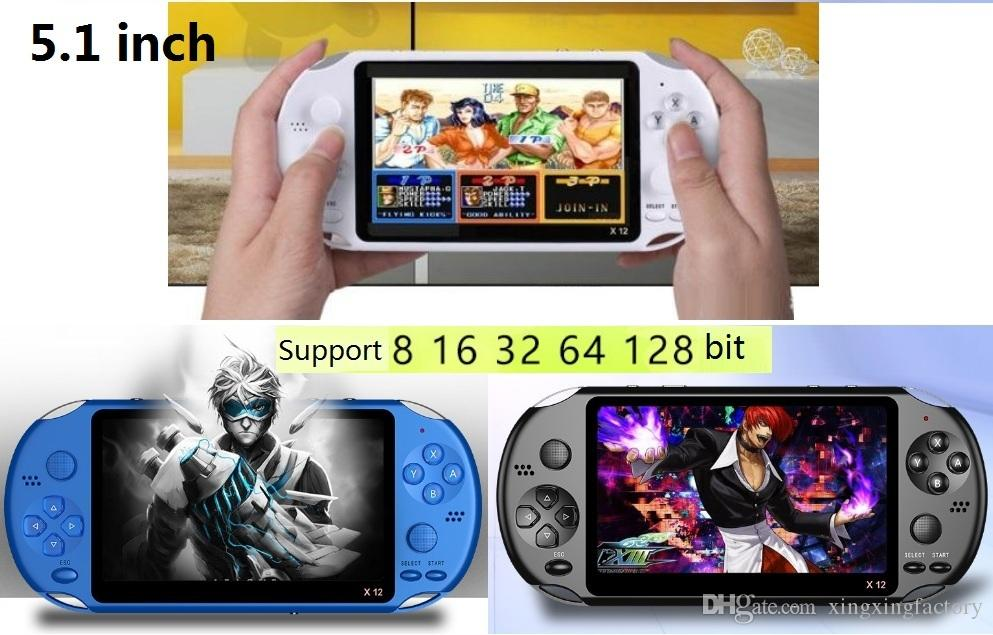 X12 Handheld Game Players 8GB Memory Portable Video Game Consoles 5.1 inch came palyers with camera Support TF Card 32gb MP3 MP4 Game player