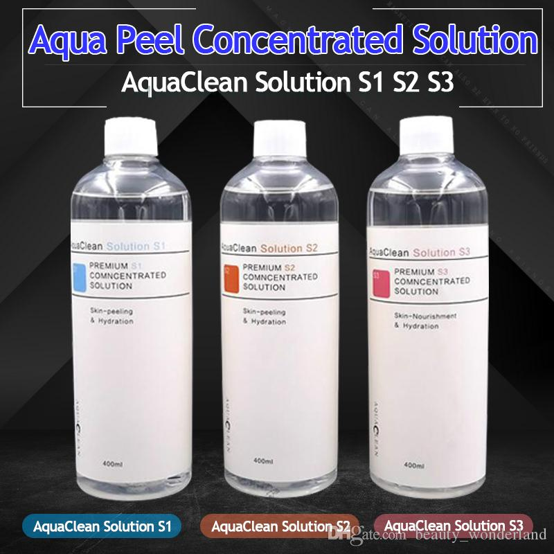 2019 neue Ankunfts-Aqua Peel konzentrierte Lösung 400 ml pro Flasche Aqua Gesichtsserum Hydra Gesichtsserum für normale Haut Aqua Clean Lösung