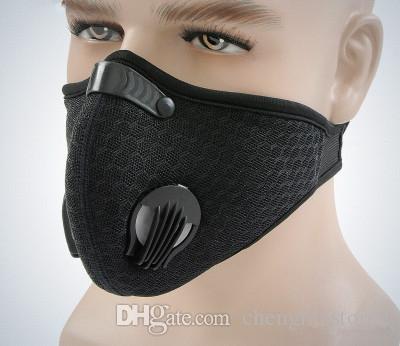 Hot Activé masque de carbone, antipoussière, froid et à la formation chaude courante, filet perméable à l'air, masque imprimé, vélo, masque extérieur